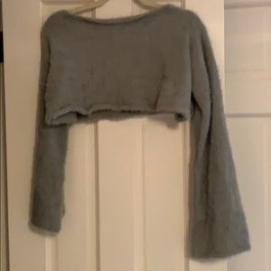 Missguided crop sweater with a flare sleeve